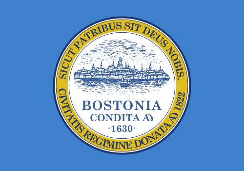 [Flag of Boston, Massachusetts]